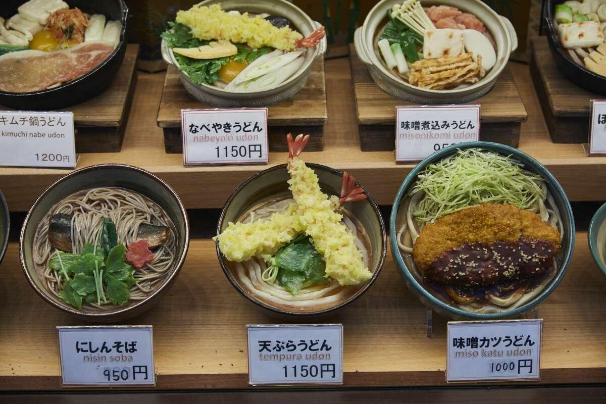 Artifical food, called Shokuhin Sampuru on display, Tokyo sampuru plastic Japanese food
