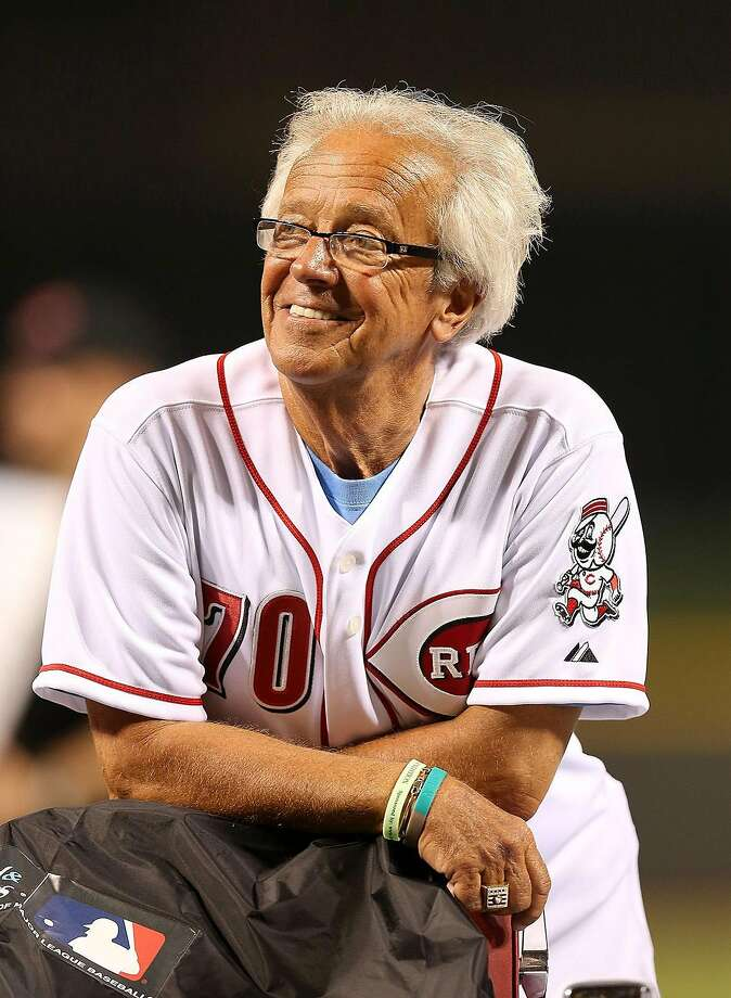 Marty Brennaman the Hall of Fame broadcaster of the Cincinnati Reds is pictured before he had his head shaved to raise money for charitiy after the game against Pitttsburgh Pirates at Great American Ball Park on August 3, 2012 in Cincinnati, Ohio. (Andy Lyons/Getty Images/TNS) Photo: Andy Lyons / TNS