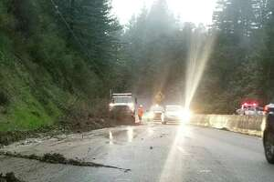 A mudslide on Highway 17 caused delays in the area by blocking both directions of the road.