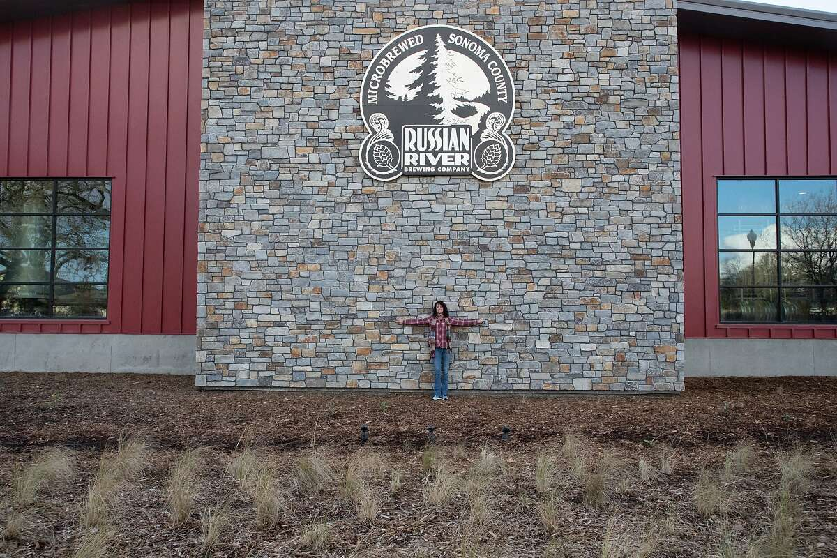 Russian River Brewing Company Co-Owner/President Natalie Cilurzo with stones she hand-picked from a quarry in Montana on Thursday, Jan. 10, 2019, in Healdsburg, CA.