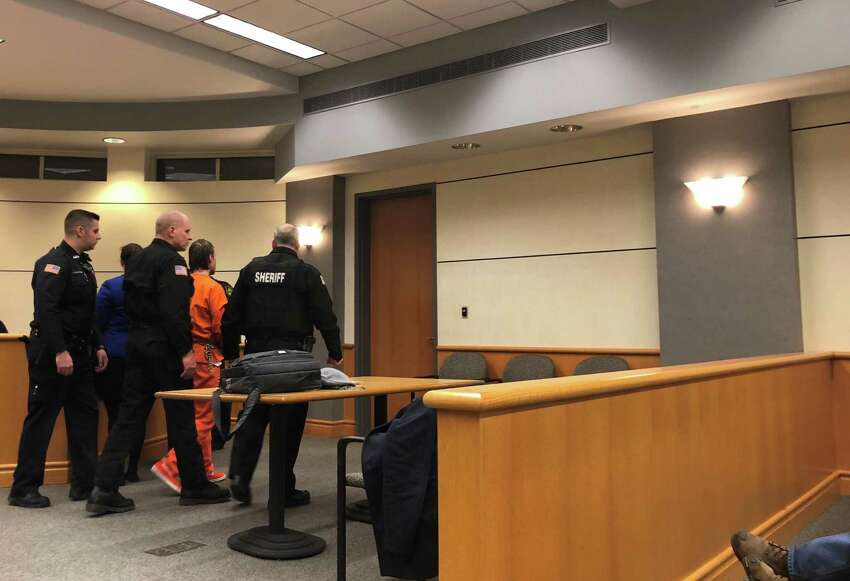 Robert Cronin in Niskayuna Court on Wednesday, Jan 16. Cronin plead not guilty to predatory sexual assault on a child less than 13 years old.