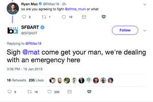 A tweet from BART over a station closure turned into a fun diversion on Twitter, as users watched the back-and-forth over a fictional fight between local transportation systems.