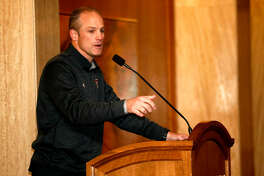 Texas Tech head football coach Matt Wells speaks to Red Raider Club members during a luncheon, Jan. 16, 2019, at the Petroleum Club. James Durbin / Reporter-Telegram