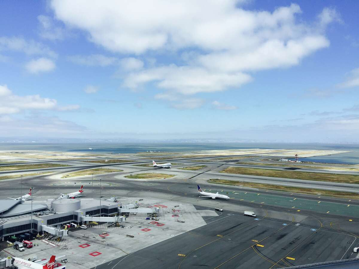 One a clear day, SFO can handle about 60 landings per hour