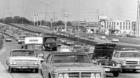 From the June 11, 1969, Houston Chronicle: That's all it takes...stall one car in a middle lane of a freeway and the only thing that can result is a mass of congestion.  That is what happened here on the Southwest Freeway in Houston, Texas, during rush hour.