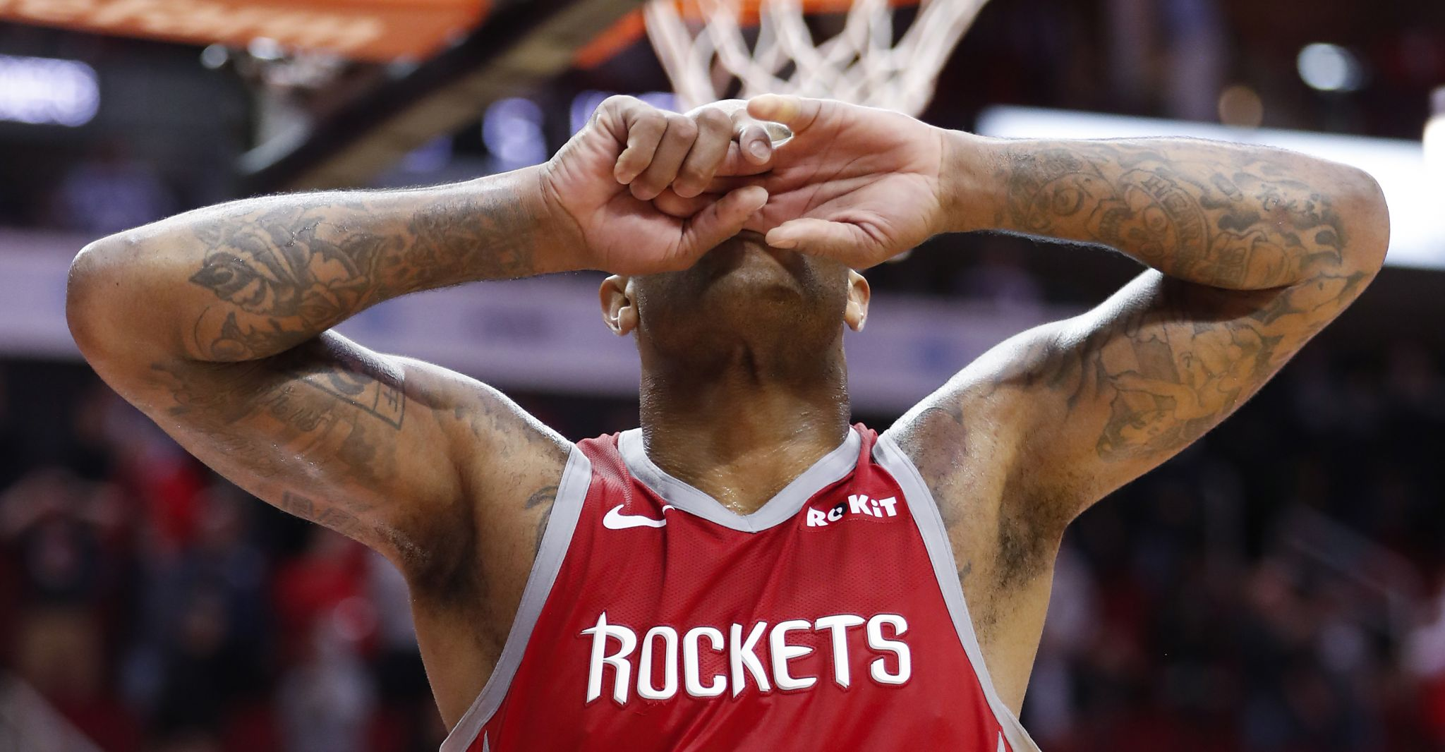 best cheap b2bcc 548ab Rockets crumble late in regulation, overtime, fall to Nets despite James Harden s  58 points - Houston Chronicle