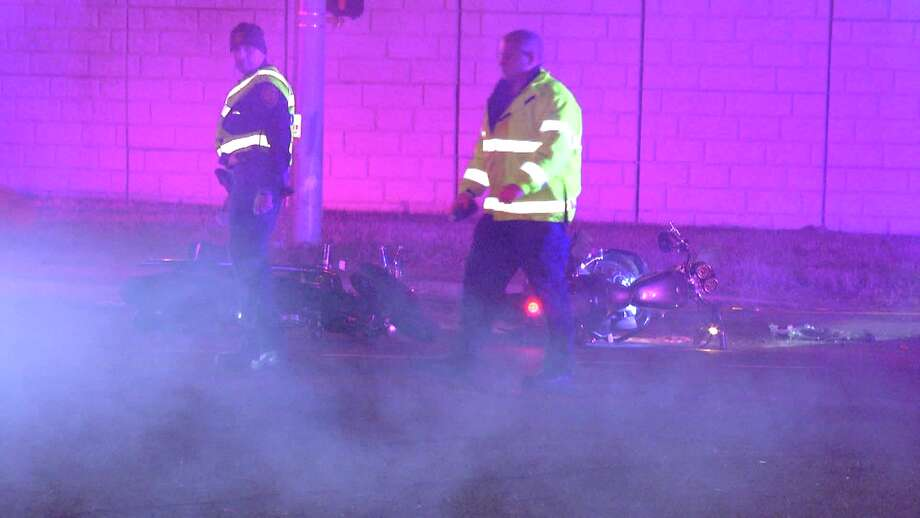 According to police, the driver hit the motorcycle at about 11:30 p.m. near West Military Drive and State Highway 151. Photo: Ken Branca