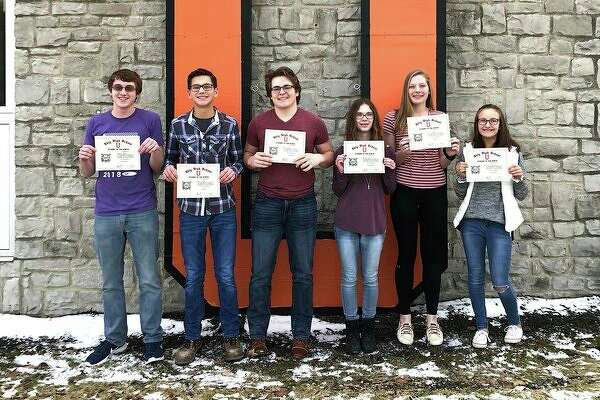 Ubly Community Schools recently announced its Students of the Month for December. They are, from left, Joshua Brandel, grade 12; Grant Geiger, grade 11; Nolan VanErp, grade 10; Annisa Smith, grade 9; Taylor Peruski, grade 8; and Emily Greyerbiehl, grade 7. (Submitted Photo)
