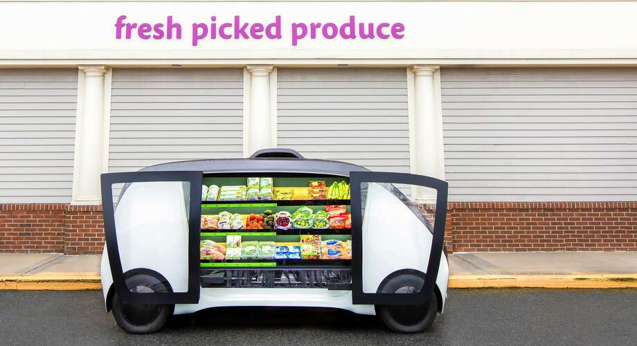 Stop & Shop will test delivering produce, meal kits and other purchases to homes using autonomous carts, with the company the largest supermarket operator in southwestern Connecticut and already offering deliveries locally through its Peapod subsidiary. (Photo via PRNewswire)