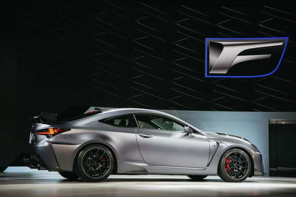 The Toyota Lexus RC F Track Edition sports coupe is unveiled during the 2019 North American International Auto Show in Detroit on Jan. 14, 2019.