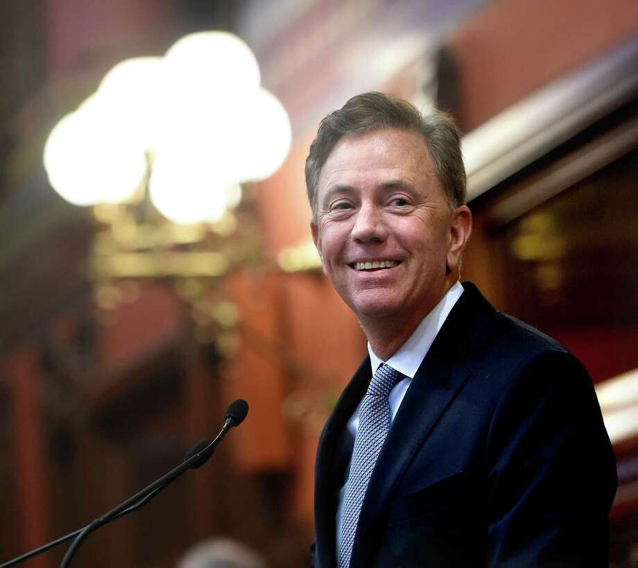 Governor Ned Lamont in the historic hall of the House of Representatives, next to his office suite. Photo: Arnold Gold / Hearst Connecticut Media / New Haven Register