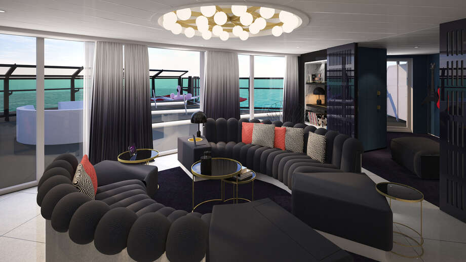 "Take a virtual tour of Virgin Voyages' newly unveiled ""RockStar Suites."" Photo: Virgin"