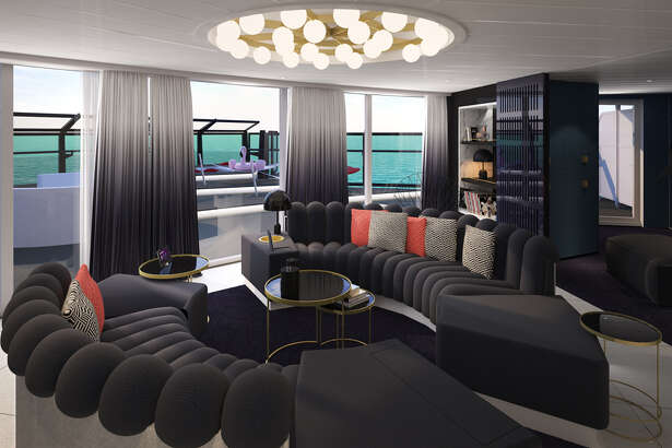 "Take a virtual tour of Virgin Voyages' newly unveiled ""RockStar Suites."""