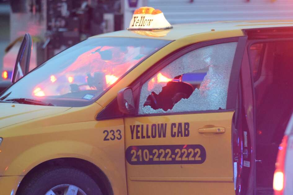 Police say a man was found shot to death Thursday January 17, 2019 in the driver's seat of a Yellow Cab in the parking lot of a thrift store in Windcrest.