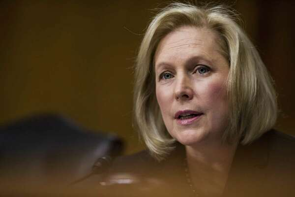 Sen. Kirsten Gillibrand, D-N.Y., at a hearing on Capitol Hill in Washington on Dec. 20, 2017.