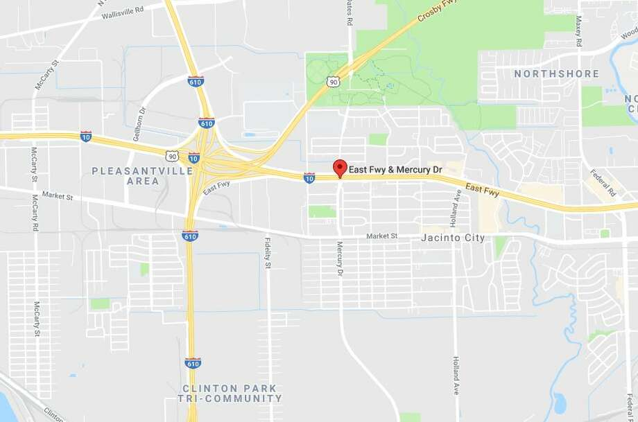 One person has died after a crash on the eastbound I-10 service road near Mercury, on Thursday, Jan. 17, 2019. Photo: Google Maps