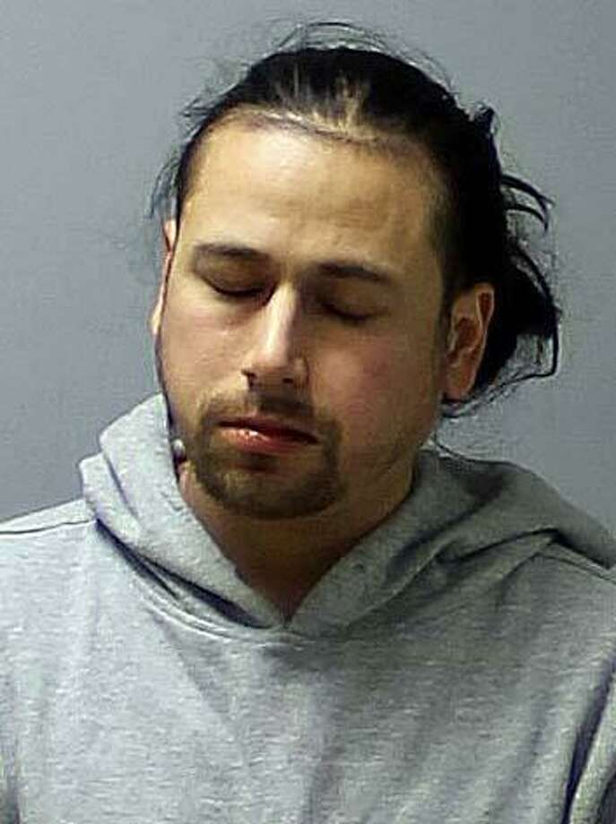 Moises Dominguez-Villagomez, 34, of South Cherry Street, in Wallingford was charged with illegal operation of a motor vehicle under the influence of alcohol or drugs and failure to drive in the proper lane after he crashed his vehicle on an I-91 exit ramp in Cromwell on Thursday, Jan. 17, 2019. Photo: Connecticut State Police Photo