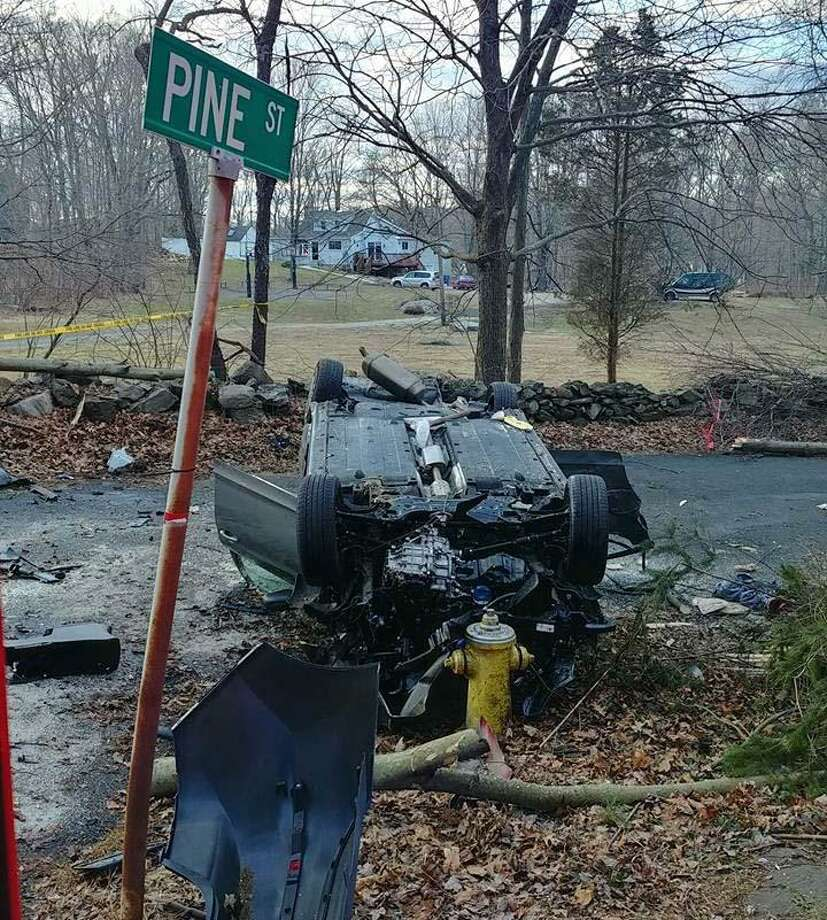 A mother and her two children were taken to a local hospital after a one-car crash with rollover in the city on Wednesday, Jan. 16, 2019, police officials said. Photo: Echo Hose Hook And Ladder Co. 1