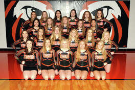 The Edwardsville varsity and competition cheerleaders will perform Saturday in the inaugural Southwestern Conference cheer competition at Alton High School. Front row from left: Kayleigh Wallace, Morgan Allen, Lauren Jenkins, Micah Summers and Tara Colligan. Second row: Brie Yarbrough, Sydney Weber, Nikki Quirin, Drea Hoedebeck, Cyrina Beckmann and Natalie Niehaus. Third row: Grace Misukonis, Katelyn Zacheis, Mabry Slagle, Skylar Touchette and Marcie Billings. Back row: Macy Updyke, Rylee Warmouth, Bree McQueen, Livia Rathgeb, Skyler Richardson and Brynn Miracle. Not pictured: Chloe Fuller.