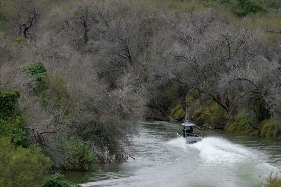 A U.S. Border Patrol boat patrols the Rio Grande between Roma, Texas and Ciudad Miguel Aleman, Texas, Wednesday, Jan. 9, 2019. Photo: Jerry Lara, Staff Photographer / © 2019 San Antonio Express-News