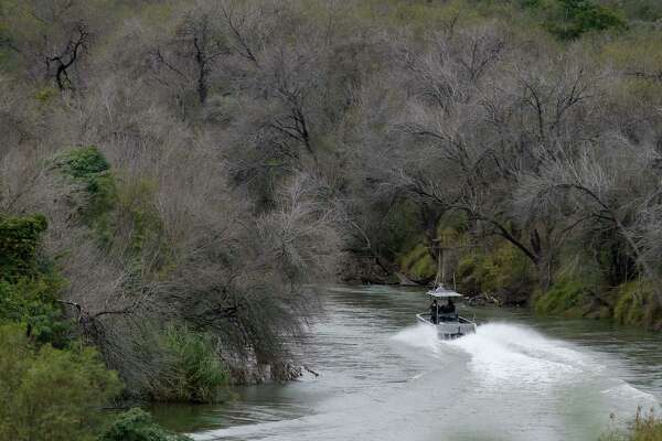 Thousands of agents, patrol boats, drones, and radar installations line the Rio Grande to prevent illegal crossings. This Border Patrol boat was on patrol between the town of Roma and Ciudad Aleman, Mexico.