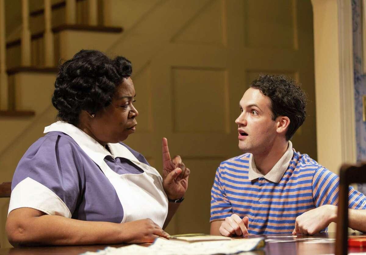 Benja Kay Thomas and Jacob Perkins in the Long Wharf play.