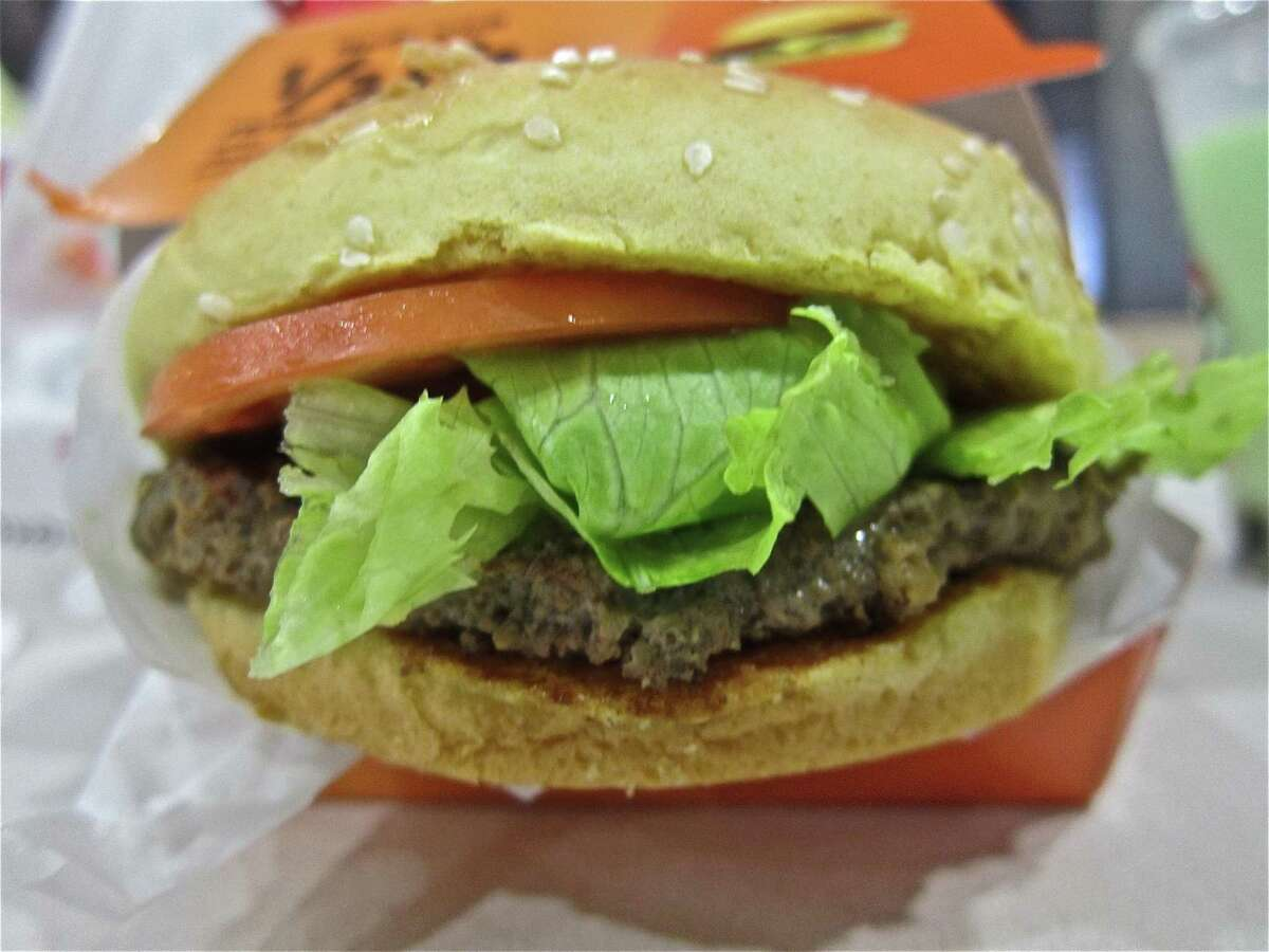 A hamburger at Jollibee, a Filipino fast food restaurant that appears to be San Antonio-bound. The brand opened a Houston location in 2013.