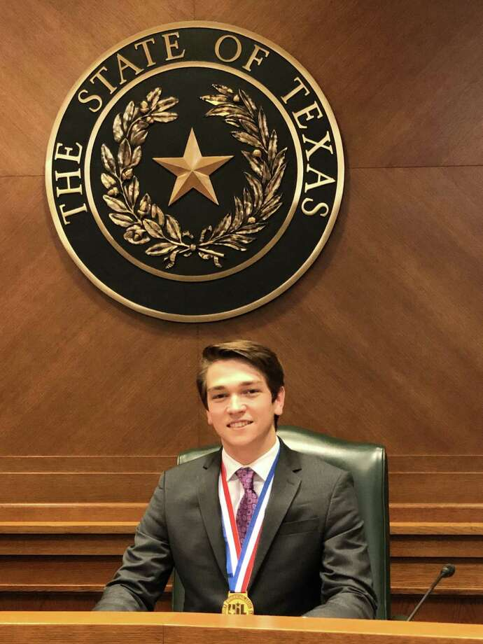 The Woodlands High School senior Ian McPhearson nabbed the gold medal at the 2018-19 UIL state congressional debate competition in Austin last week. Photo: Courtesy Photo / Courtesy Photo
