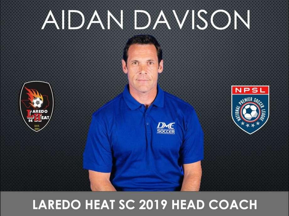 Aidan Davison was announced Thursday as the new head coach for Laredo Heat SC heading into its second season in the National Premier Soccer League. Photo: Courtesy Of Laredo Heat SC