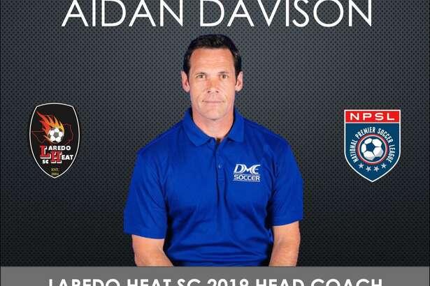 Aidan Davison was announced Thursday as the new head coach for Laredo Heat SC heading into its second season in the National Premier Soccer League.