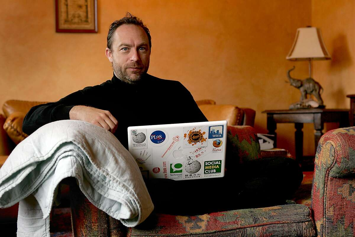 """Jimmy Wales, founder of Wikipedia, in 2007. Wikipedia, created to be """"the people's dictionary"""" turned 18 this week. It now contains more than 48 million articles in some 300 languages."""