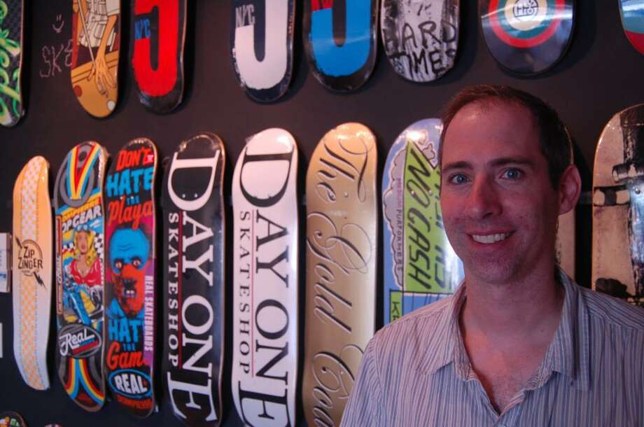 Jeff Walsh has moved his Day One Skate Shop from Bridgeport to Fairfield, at 1140 Post Road. Photo: Anthony Karge / Fairfield Citizen