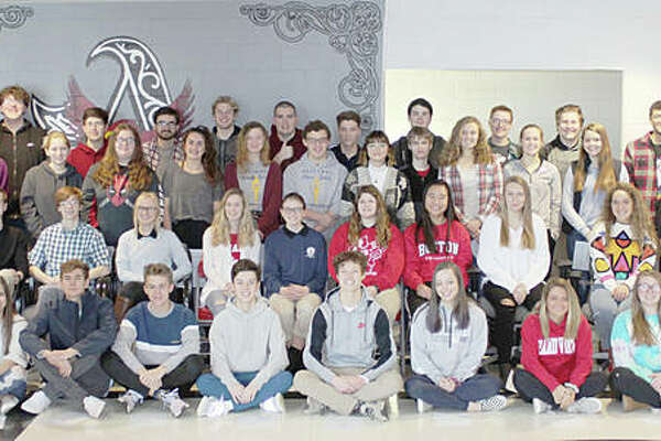 The Alton School District announced Thursday that 47 Alton High School students have been named 2019 Illinois State Scholars for their outstanding academic achievements. State Scholars are selected based on the student's performance at the school level and achievement on the SAT/ACT standardized assessment. The Alton High students are, in alphabetical order (not in order as pictured): Maria Allen, Spencer Barham, Chloe Beauchamp, Gabriel Brady, Hannah Camerer, Adam Carroll, Calista Cox, Joseph Davis, Hazel Denother, Gavin Depew, Isaac Drysdale, Nathaniel Dyer, Thomas Frosch, Michael Green, Molly Gross, Gabriel Hensley, Holley Hentz, Erin Hillery, Taylor Jansen, Malliyah Jones, Samuel Kane, Samuel Keller, Jonathan Lane, George Lindsey, Hannah Macias, David Mathus, Joseph Morrissey, Claire Pohlman, Emmylou Pruitt, Morgan Rauscher, Parker Rockholm, Summer Schleeper, Raina Schlueter, William Schuenke, Lucas Seibold, Sarah Spond, Alexa Staley, Samantha Stendeback, Sydney Stutz, Bradley Taulbee, Christina Thompson, Austin Turnbull, Alex Whitten, Owen Williams, Andrew Wilson, Miller Wiseman, and Tami Wong.