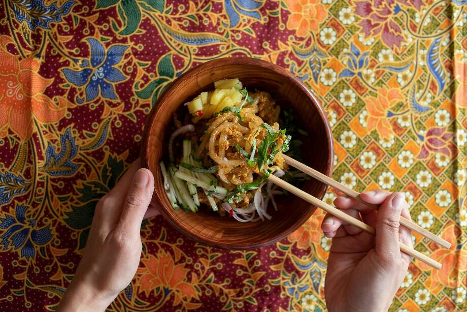 Tracy Goh's specialty is Malaysian food and in particular, laksa. Photo: Celeste Noche