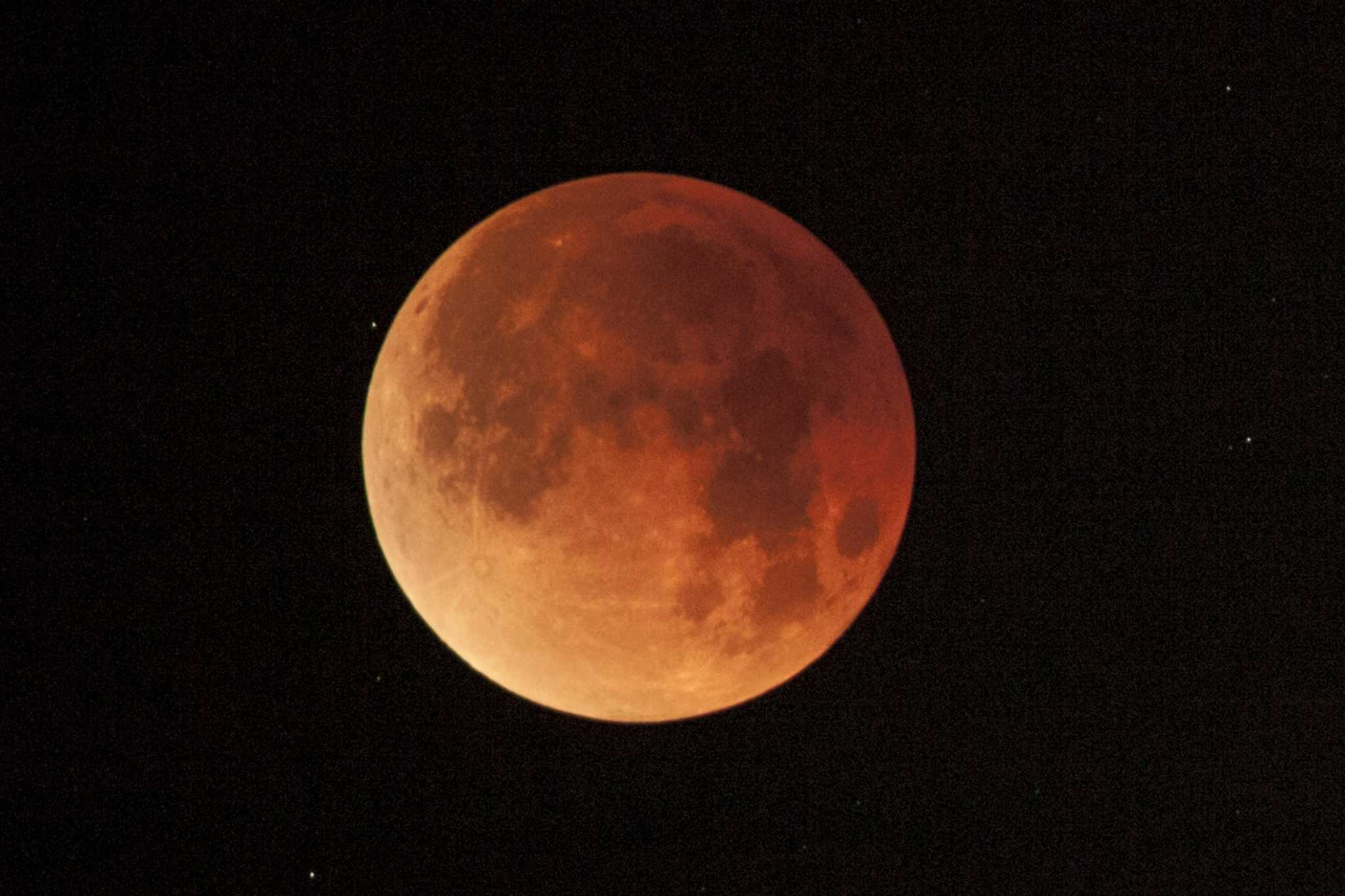Sunday's Super Blood Wolf Moon gives stargazers something to howl about