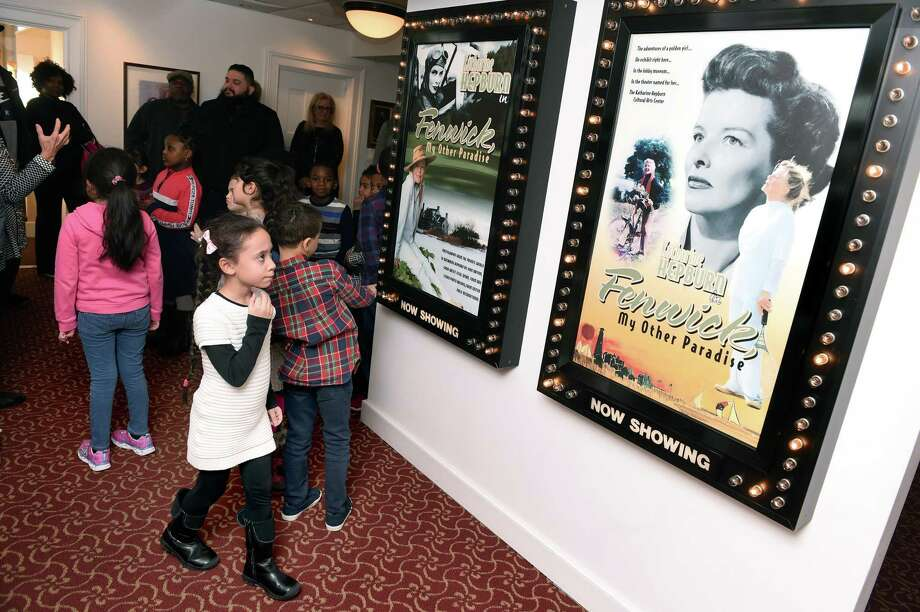 Second-grader Isabella Ortiz, left, and  classmates from Wintergreen Interdistrict Magnet School in Hamden tour the museum section of the Katharine Hepburn Cultural Art Center in Old Saybrook Thursday. Photo: Arnold Gold / Hearst Connecticut Media / New Haven Register