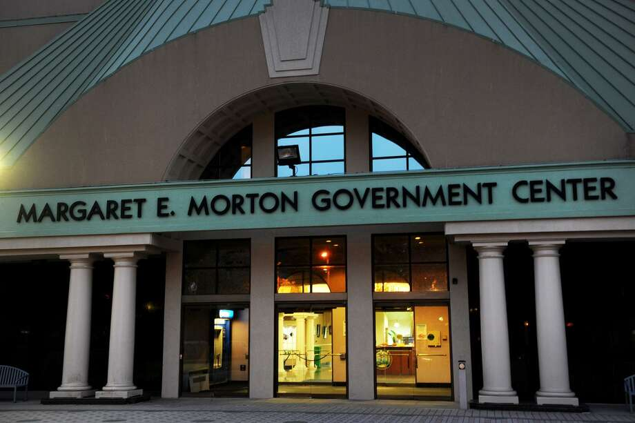 Exterior, Margaret E. Morton Government Center, in Bridgeport, Conn. Photo: Ned Gerard / Ned Gerard / Connecticut Post
