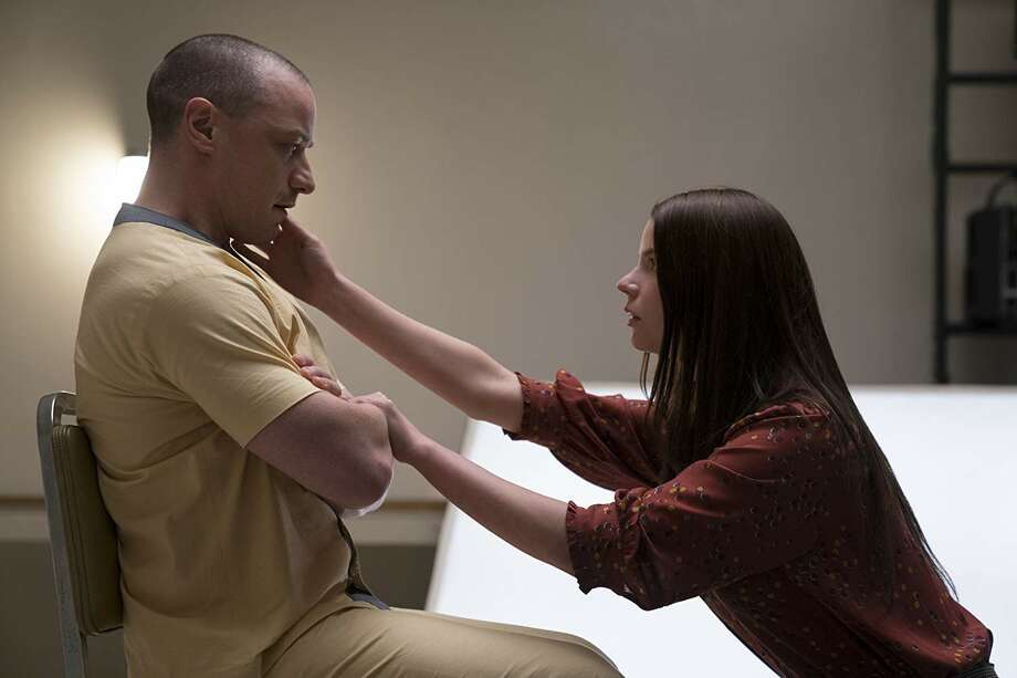 """James McAvoy and Anya Taylor-Joy in """"Glass."""" (Universal Pictures)"""