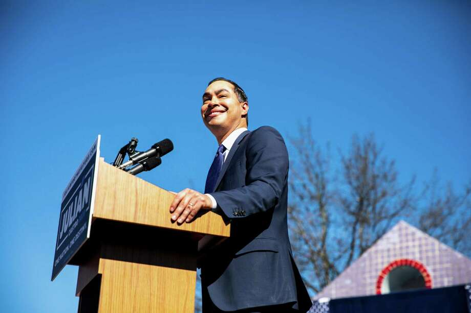 Julián Castro, the former housing secretary and former mayor of San Antonio, announces Jan. 12 that he will run for president in 2020. Photo: Ilana Panich-linsman /New York Times / NYTNS