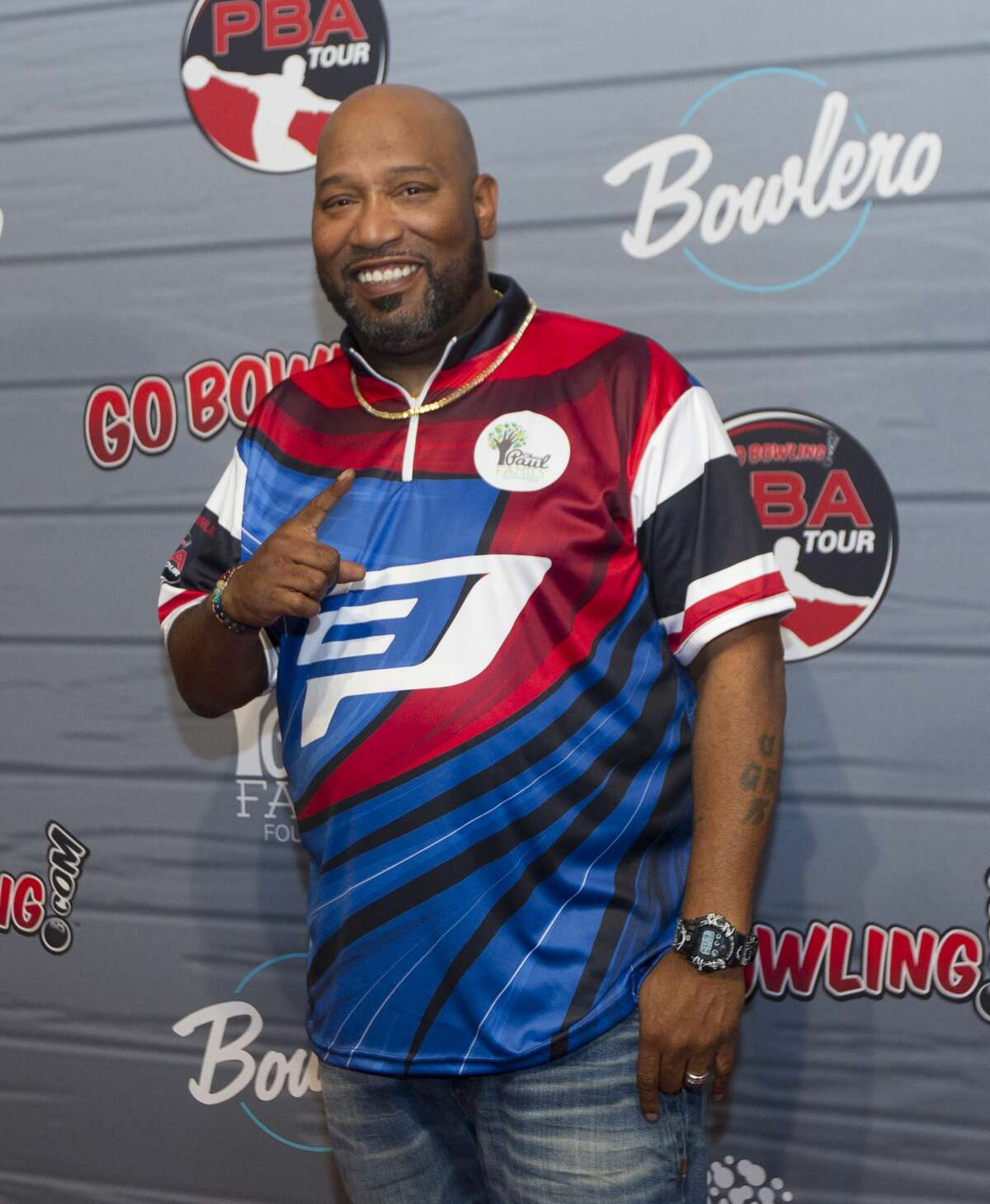 Houston rapper Bun B arrives for the annual CP3 PBA Celebrity Invitational at Bowlero The Woodlands.