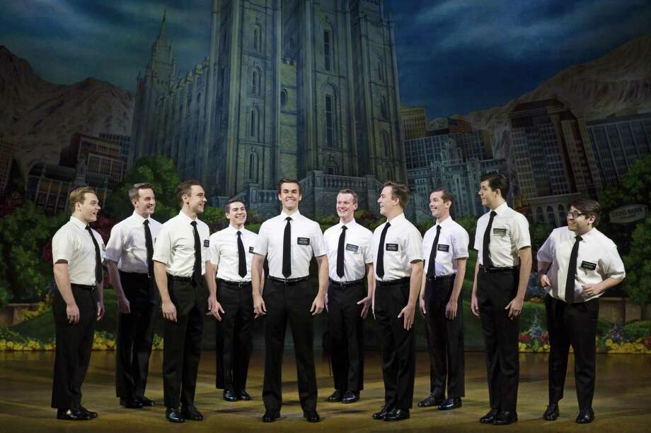 "From the creators of ""South Park"" comes this highly irreverent musical about two Mormon missionaries who travel to Africa. ""Book of Mormon"" changes your life at the Waterbury Palace Theatre all weekend long. Find out more. Photo: Courtesy Julieta Cervantes / Photo: Julieta Cervantes / Copyright 2017 Julieta Cervantes"
