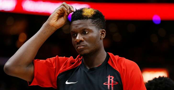 MIAMI, FL - DECEMBER 20:  Clint Capela #15 of the Houston Rockets looks on against the Miami Heat at American Airlines Arena on December 20, 2018 in Miami, Florida. NOTE TO USER: User expressly acknowledges and agrees that, by downloading and or using this photograph, User is consenting to the terms and conditions of the Getty Images License Agreement.  (Photo by Michael Reaves/Getty Images)