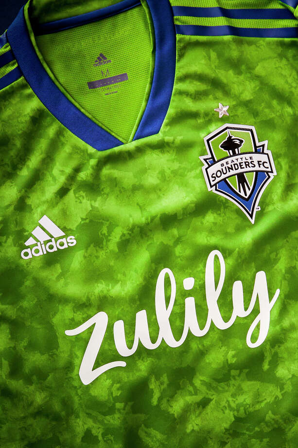 The Seattle Sounders and Seattle Reign FC debuted their new presenting sponsor, Zulily, Thursday. It will be the first time they'll be united under one jersey sponsor. Photo: Courtesy Of Sounders FC