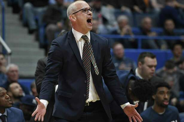 UConn coach Dan Hurley took issue with AAC officiating after being ejected along with Tulsa coach Frank Haith on Wednesday night.