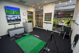 Golftec has four teaching/practice bays at the new Sugar Land location.
