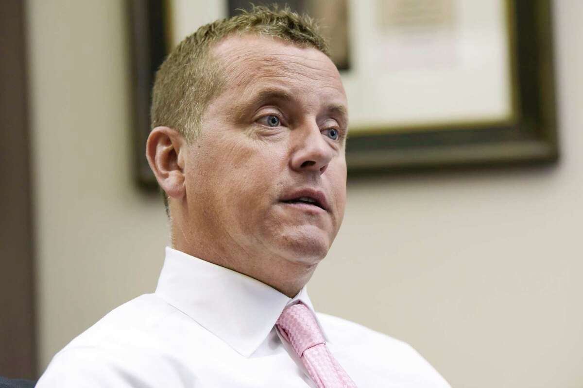 Albany County Sheriff Craig Apple talks about a new initiative to expand medication assisted treatment in the county jail during an interview on Wednesday, Jan. 16, 2019, in Albany, N.Y. (Paul Buckowski/Times Union)