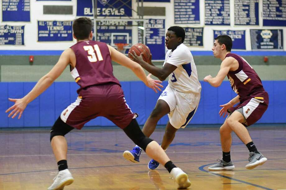 High School basketball game action between the West Haven Blue Devils and the Sheehan Titans played on Thursday January 17, 2019 at West Haven High School in West Haven, Connecticut. Photo: Gregory Vasil / For Hearst Connecticut Media / Connecticut Post Freelance