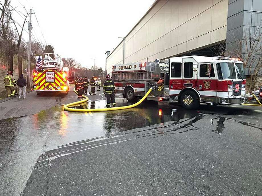 Town firefighters responded to the mall for a reported structure fire at Target in Trumbull, Conn., on Jan. 17, 2018, according to a statement from the Long Hill fire company. The first unit on scene reported heavy smoke showing from the loading dock at Target on arrival, officials said. Photo: Contributed Photo / Long Hill Fire Company / Contributed Photo / Connecticut Post Contributed