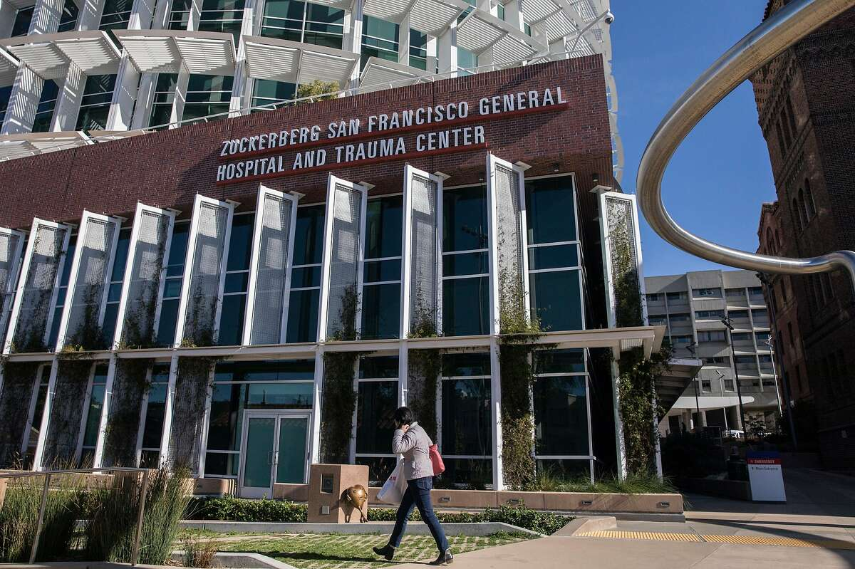 Signage for Zuckerberg San Francisco General Hospital is seen posted on the hospital's Potrero Avenue facade in San Francisco, Calif. Friday, Dec. 28, 2018.