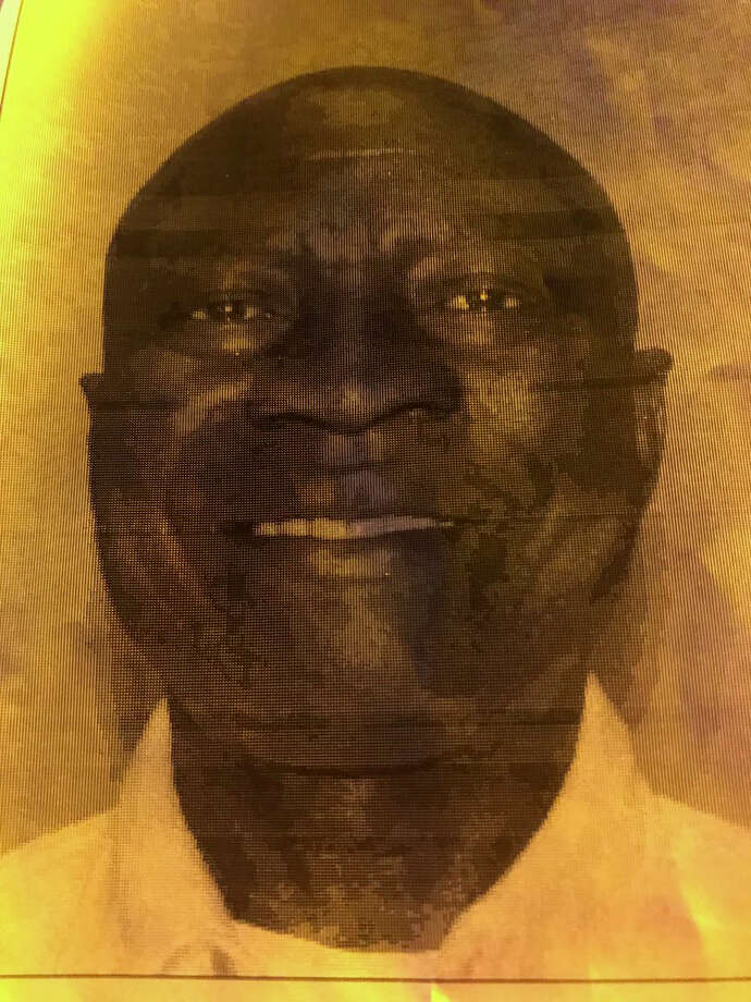 "Investigators are seeking Arthur Edigin, 62, in connection with the shooting outside Christ the Redeemer Catholic Church on Huffmeister. He's 5'4"", 144 lbs. Driving a white '08 Suburban with a damaged right front quarter panel. Photo: HCSO"